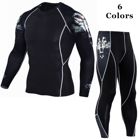 Men's Compression Workout Sportwear Suit Sets(Extra Discount:Buy 2 Got 5% OFF, 3 Got 10% OFF)