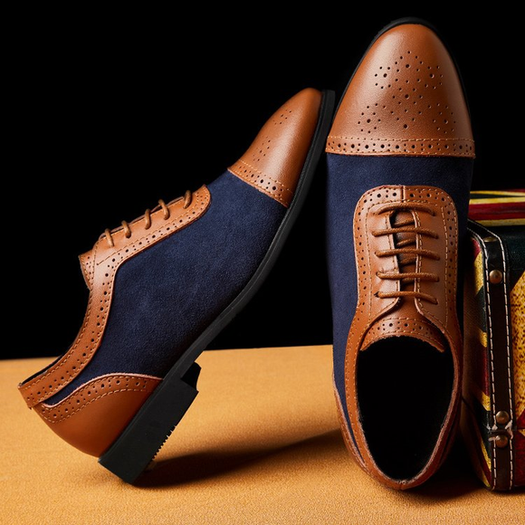 2019 New arrival Men's Fashion Business Dress Genuine Leather Shoes