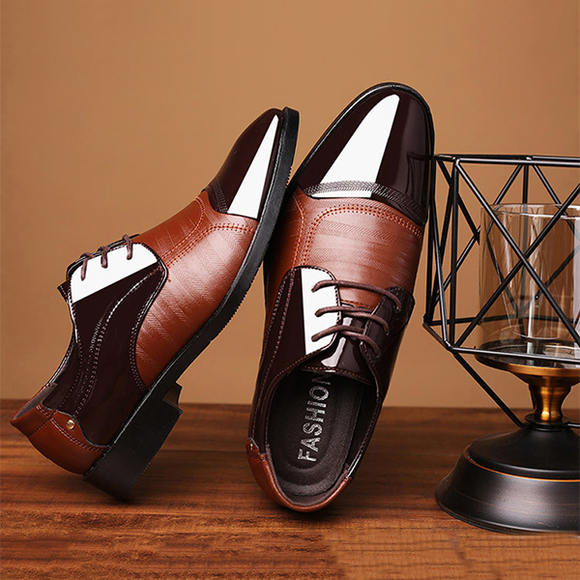 2019 Men Fashion Business Dress Formal Lace up Shoes