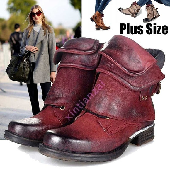 Shoes - New Fashion Luxury Women's Genuine Leather Buckle Boots(Buy 2 Got 5% off, 3 Got 10% off Now)