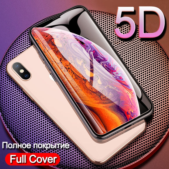 Full Cover Tempered Glass For iphone X XS MAX XR