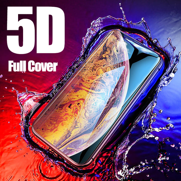 Phone Accessories - 5D Tempered Glass Full Screen Protectors For iPhone