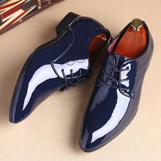 Shoes 2018 New Patent Leather Mens Fashion Dress Shoesbuy One Get One 20