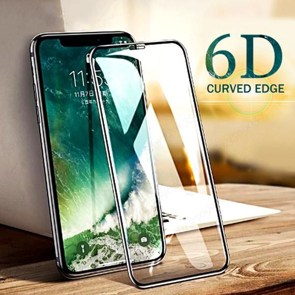 6D Full Cover Tempered Glass Screen Protector For iphone 6 6S 7 8 Plus X