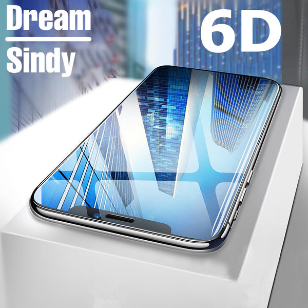 6D Full Cover Edge Tempered Glass For iphone 6 6S 7 8 Plus X
