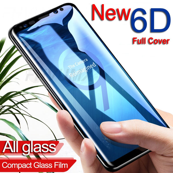 6D Full Curved Tempered Glass For Samsung Galaxy S7 S8 S9 Plus Note 8 9 (Extra Discount:Buy 2 Get 10% OFF, 3 Get 15% OFF)