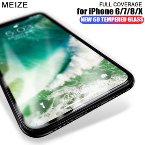 6D Cold Carving Etched Curved Tempered Glass For iphone  X Xr Xs Max 7 8 6S/Plus