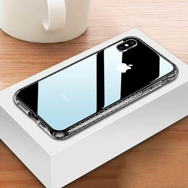 Soft silicone Transparent Diamond shell TPU anti-drop Case for iPhone X XR XS XS Max 7 8 Plus