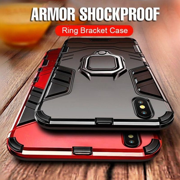 Phone Case - Heavy Duty Anti-knock Armor Phone Case for iPhone X XR XS Max With Holder (Buy 2, Second one 20% OFF)