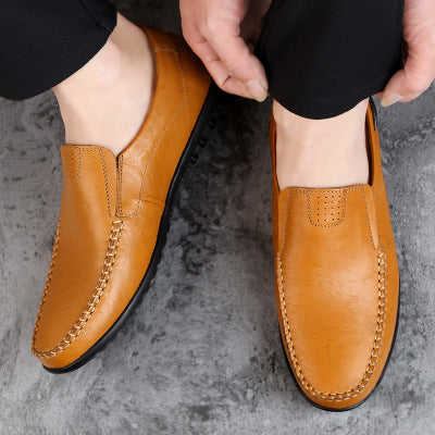 Shoes - 2018 Men's Genuine Leather Casual Slip on Loafers Breathable Driving Shoes