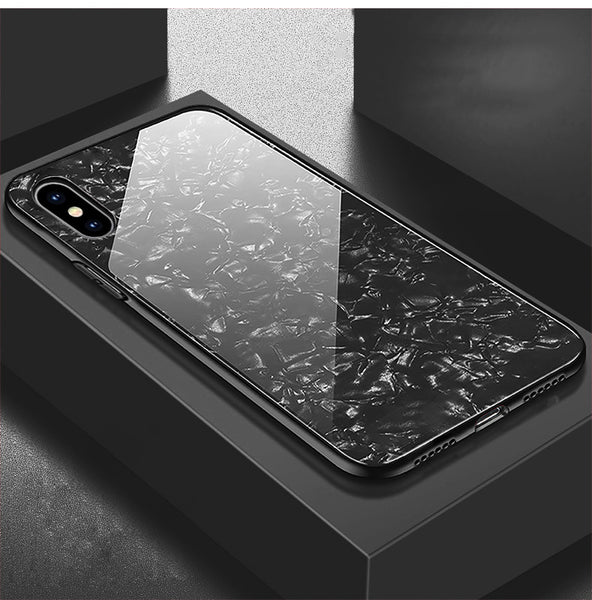 Phone Case - Bling Conch Shell Tempered Glass Case For iPhone X 8 7 6S 6/Plus