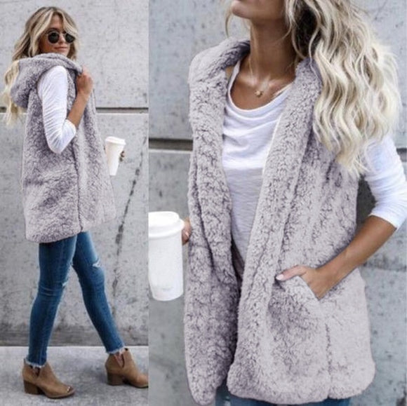 Women's Clothing - Winter Fashion High Quality Faux Fur Vest