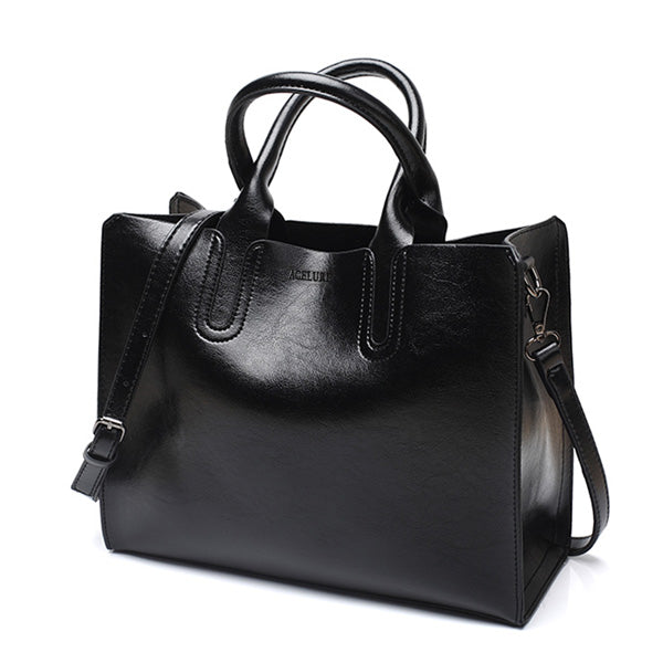 Bags - Leather Handbags High Quality Casual Female Trunk Tote Shoulder Bag