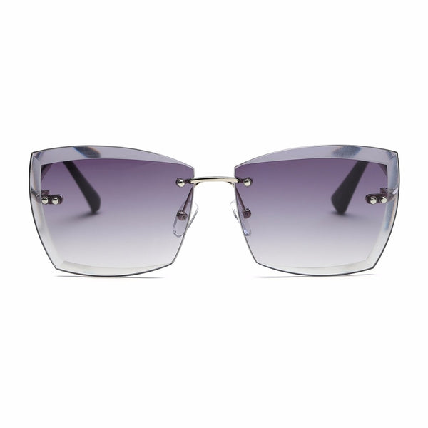 Sunglasses - Women's Square Rimless Diamond cutting Sunglasses(Buy 2 Got 5% off, 3 Got 10% off)
