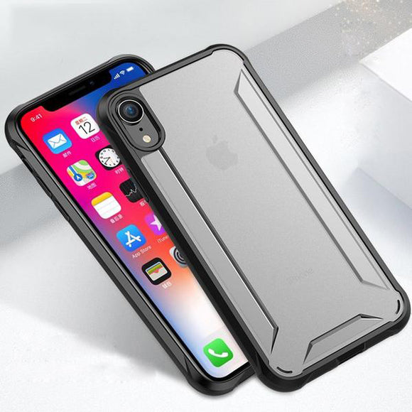 Phone Case - Luxury Matte Transparent Soft Silicone Edge Phone Case For iPhone X/Xr/XS/XS Max