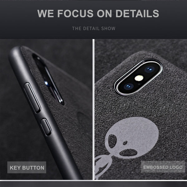 check out 8863c 402de Phone Case - Luxury Vintage Alcantara Leather Soft Protective Phone Case  For iPhone XS/XR/XS Max 8/7 Plus