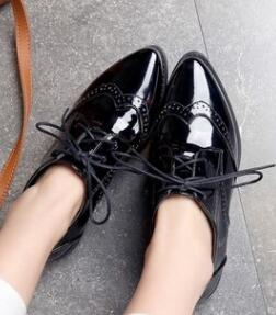 Women Retro Pu Leather Oxford Shoes