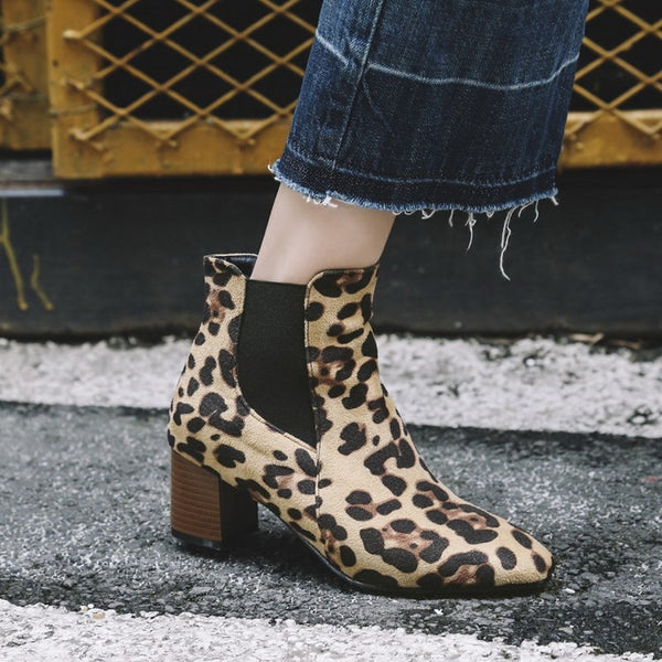 Women's Shoes - Casual Chunky Heel Daily Ankle Boots