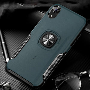 Car Magnetic Finger Ring Armor Anti-knock Cover for iPhone X XS Max XR