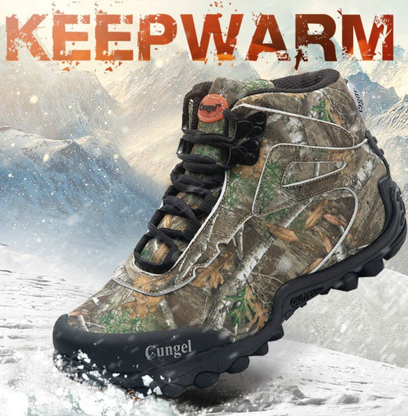 Kaaum Non-slip Wear-resistant Hiking Boots Warm Snow Boots