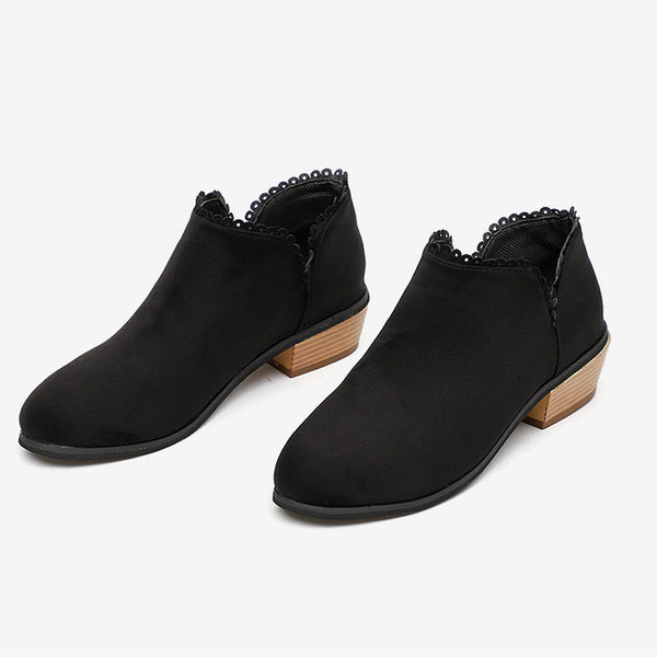 Women's Shoes - Autumn Fashion Slip On Ankle Boots