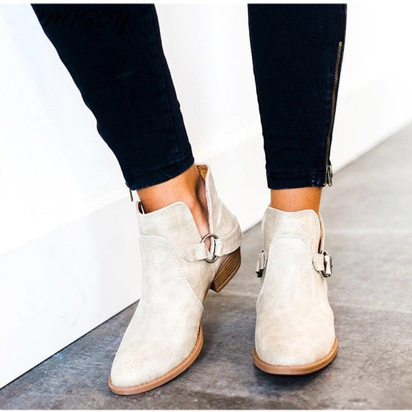 2018 Comfortable Autumn Casual Slip On Booties