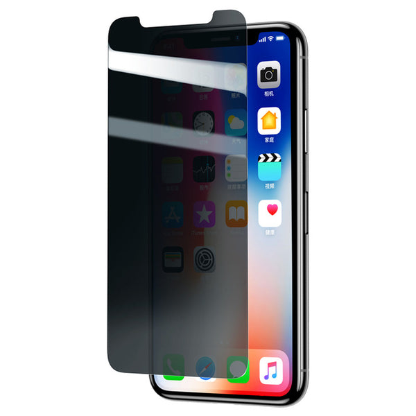 Phone Accessories - Ultra Thin 0.3mm Anti Spy Tempered Glass For iPhone X