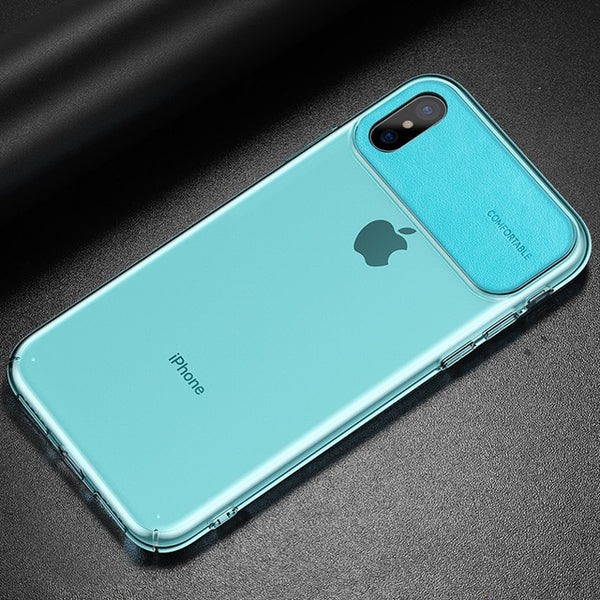 Phone Case - Luxury Ultra Thin PU Leather Transparent Protective Phone Case For iPhone X/XS/XR/XS Max