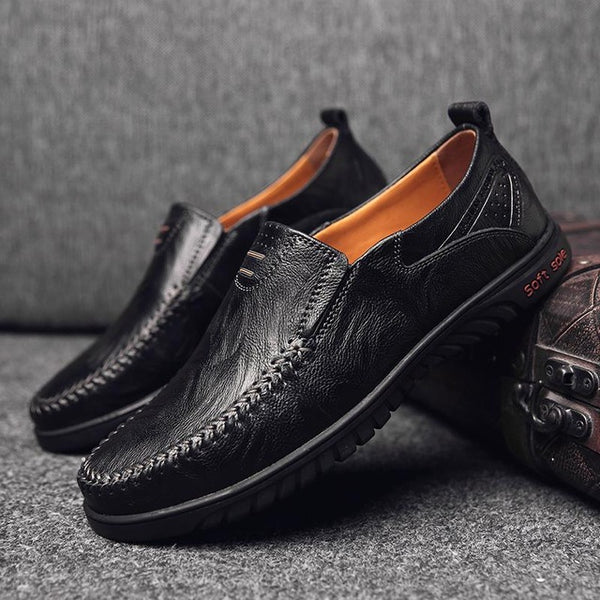 Genuine Leather Breathable Loafer Casual Shoes