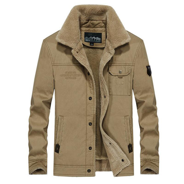 Men S Clothing Military Fleece Wool Liner Casual Loose