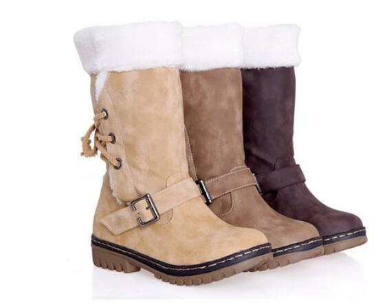 Boots - Outdoor Keep Warm Fur Boots Waterproof Women's Snow Boots