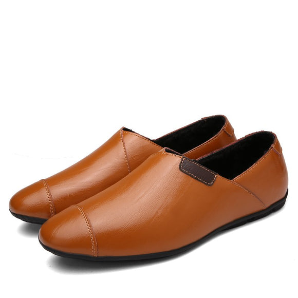 Shoes - Men's Slip On Leather Driving Loafer Shoes