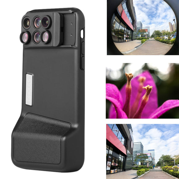 Bluetooth Camera Lens Fisheye Wide-angle Telephoto Macro Case For iPhone X/XS/XS Max