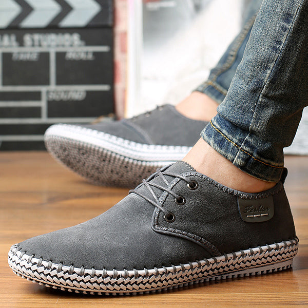 Men's Shoes - 2018 Fashion nubuck leather shoes
