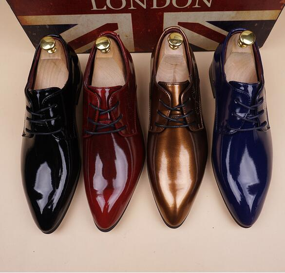 Men's Shoes Luxury 2019 Men's Fashion Pointed Toe Dress Shoes