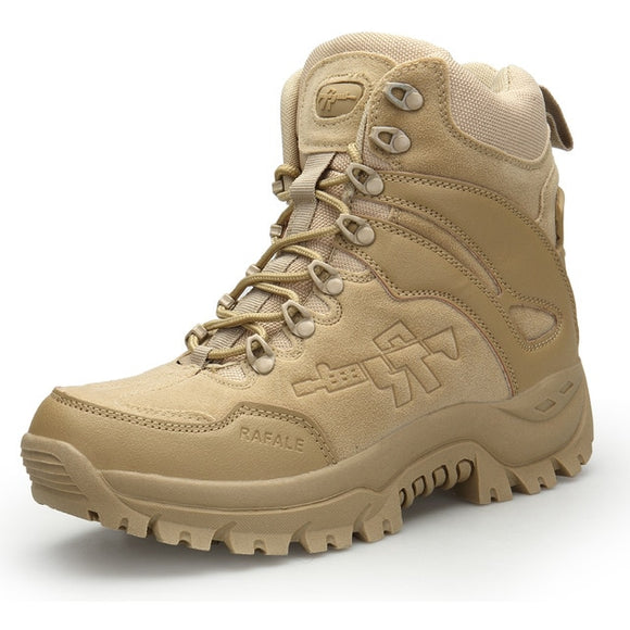 Kaaum Brand Men Military Outdoor Army Work Hiking Boots