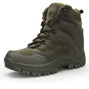Kaaum Men Military Outdoor Army Work Hiking Boots