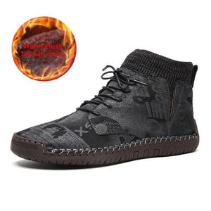 Kaaum High Quality Suede Motorcycle Boots