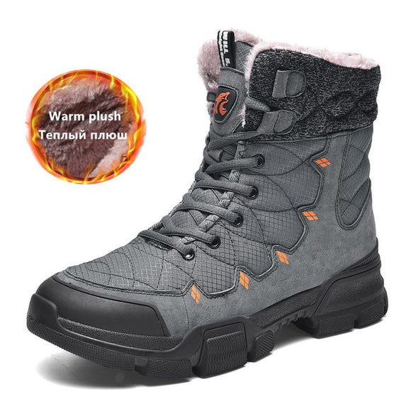 Kaaum Brand Winter Men Warm Snow Boots