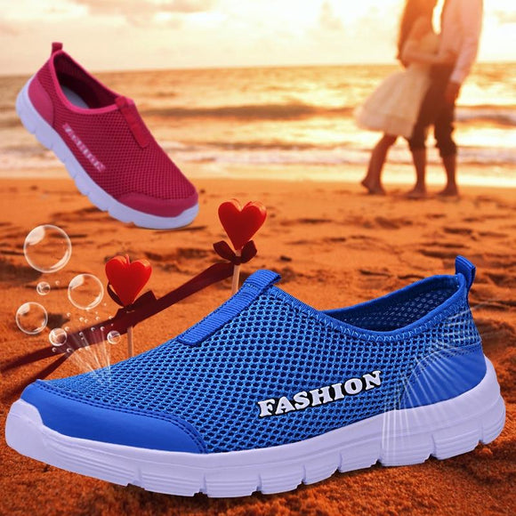 Lukmall Men Breathable Mesh Casual Lightweight Slip-on Summer Sneakers