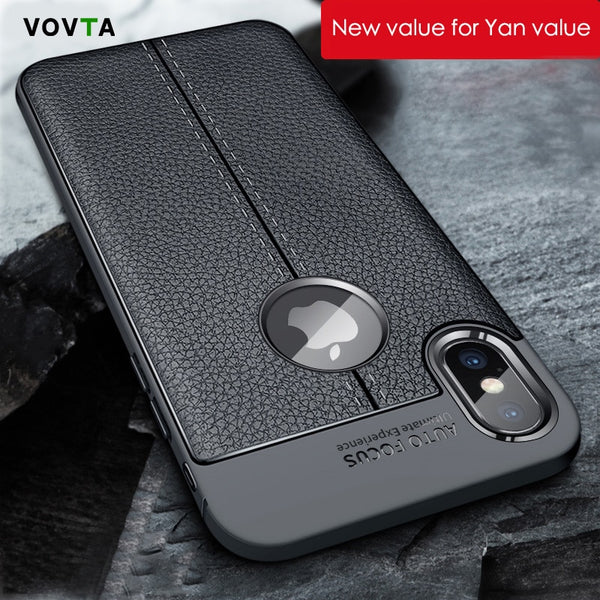 Phone Case - Leather Texture Armor Back Cover For iPhone