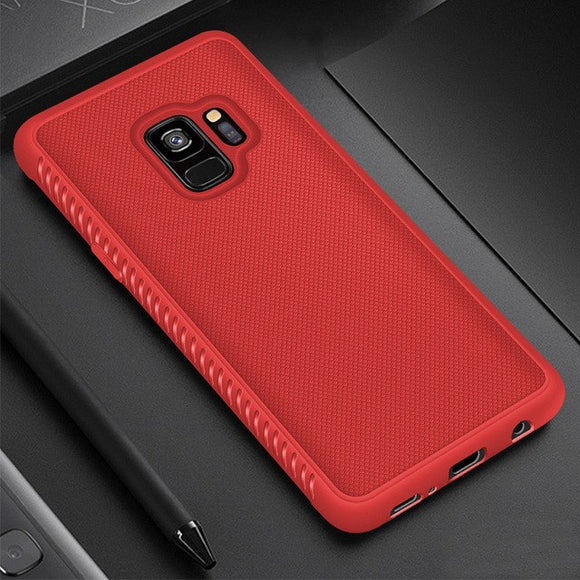Phone Accessories - Anti-Slip Soft Business Carbon Case For Samsung Galaxy