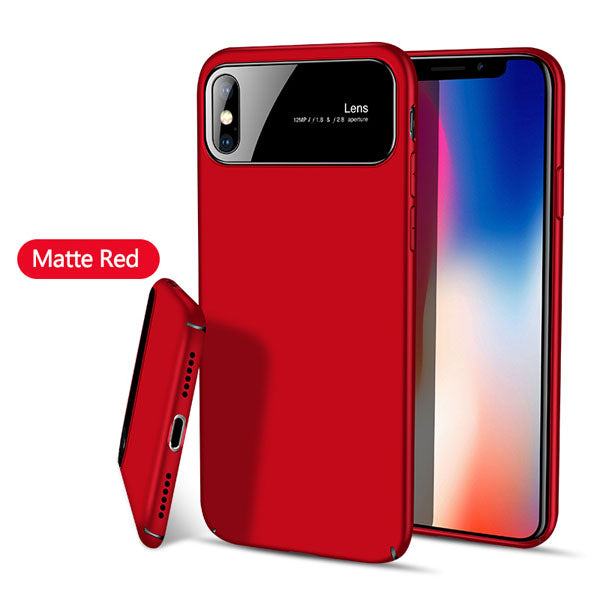 Phone Case - Luxury Tempered Glass Matte Shockproof Hard Housing Cover For iPhone X 8/7 Plus(Buy 2, second one 20% off)