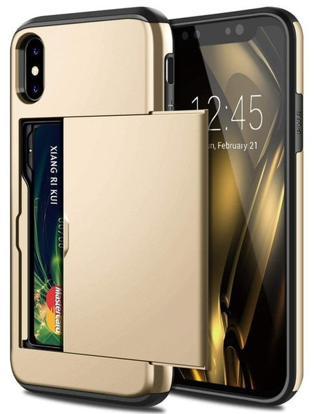 iphone xs plus case with card holder