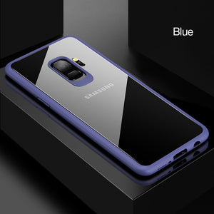 Phone Case - Luxury Ultra Thin Transparent Soft TPU& PC Shockproof Cover For Samsung Galaxy S9/S9 Plus