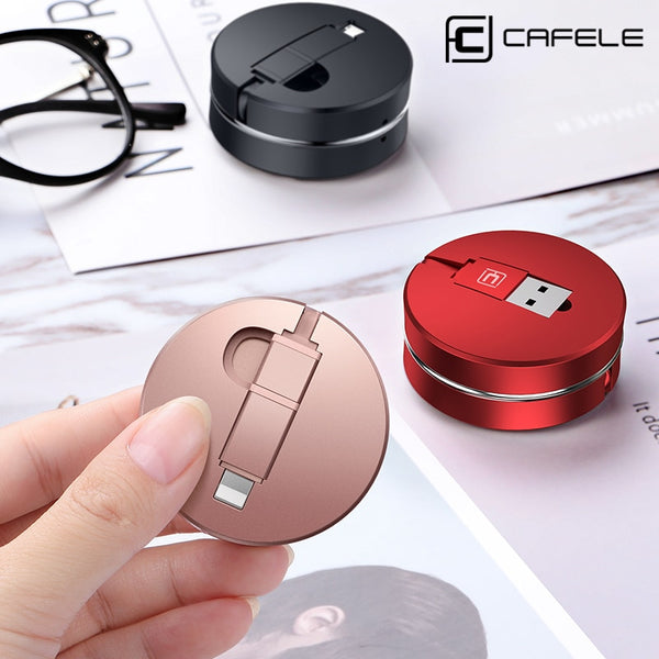 Phone Accessories - Portable 2 in 1 Retractable Micro USB Cable