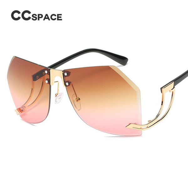 Sunglasses - Women Popular Irregular Frameless Sunglasses