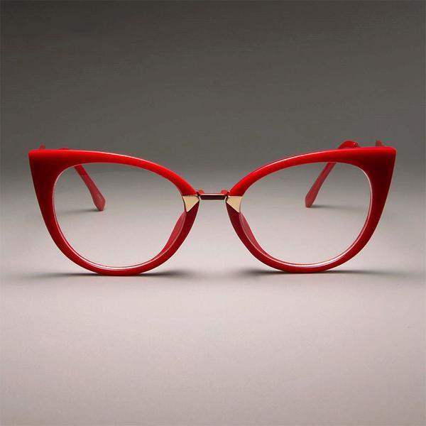 174099707563 Eyewear - Ladies Sexy Cat Eye Frames Brand Designer Optical Eye Glasses