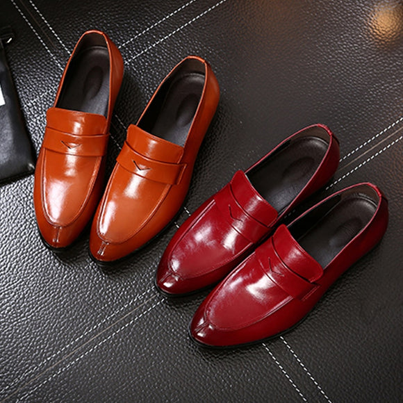 Men's Shoes - 2019 New Spring Leather Pointed Dress Shoes