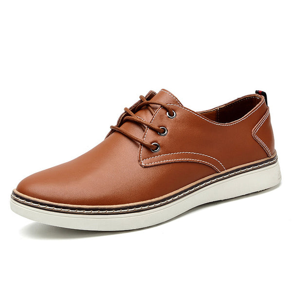 Men's Casual Shoes - Geniune Leather Fashion Comfortable Business Office Men Flats Footwear(Buy 2 Get 5% off, 3 Get 10% off Now)